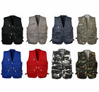 Mens adventure outdoor walking fishing safari workwear photo jacket gilet vest