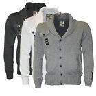 Clearance Gilet Homme Griffe Coldcut Fillet Cardigan Tricote Col Chale S-XL