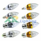 10xE27 E14 E12 B22 Dimmable 3W 6W 9W High Power LED Chandelier Candle Light Bulb
