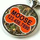 Camouflage Dog Tags for Dogs Personalized for Dogs & Cats Hunter Outdoor Orange