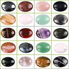 "40mm 1.6"" Large Oval cabochon CAB flatback semi-precious gemstone Pick ur stone"