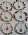 Hand made personalised  Any Name butterfly charm bracelet with gift bag