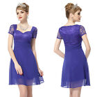 Ever Pretty Ladies Lace Blue Casual Short Cocktail Party Celebrity Dresses 05020