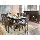 Solid Mango Wood Rect Trestle Dining Table W/Espresso Finish CHOOSE SZ