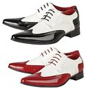 Mens Derby Brouges Formal Shoes Italian Wedding Casual Lace Up Party Boys Shoes