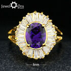 Four Color Cubic Zirconia 18K Gold Plated Ring