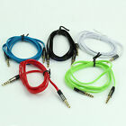 3.5mm 4 Flat Noodle Record Pole Male To Male M / M Stereo Audio AUX Cable Cord