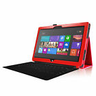 """For 10.6"""" Microsoft Surface RT 2 Windows Leather Case Cover + Bluetooth Keyboard"""
