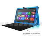 "For 10.6"" Microsoft Surface RT 2 Windows Leather Case Cover + Bluetooth Keyboard"