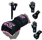 EVO Ladies pink boxing gel MMA Inner Gloves Hand Wraps Body combat martial Arts