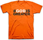 """Kerusso Christian T-Shirt """"#God Is Greater"""" Mens BRAND NEW"""
