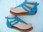 NEW BLUE GIRLS GLADIATOR SANDALS SIZES : 9-4