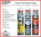 Soudal Fix All Adhesive! High Strength, Cryst/Turbo/Bl/White/Clear Fixall