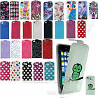 Leather Flip Case Cover Wallet for Apple iPhone 5 5S Free Screen Protector