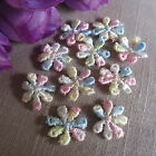 10/30/50 TINY PASTEL GUIPURE LACE DAISY MOTIFS Sew On Flower Appliques