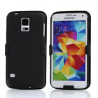 2-in-1 Combo Rubberized Hard Case Belt Clip Holster for Samsung Galaxy S5 I9600