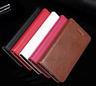 New Genuine Real cowhide Leather Flip Phone Case Cover For iPhone  4/4s 5/5s SE