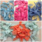 SMALL TAIL OPAQUE RIBBON BOWS | VARIOUS COLOURS | £1 PACK OF 10