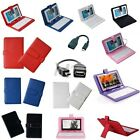 Micro USB / USB Keyboard PU Leather Cover Case For 7 8 9 9.7 10.1 Tablet PC