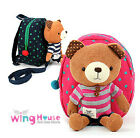 Kids Children Anti-Lost Safety Harness Wing Bear Winnie Backpack Pink Blue