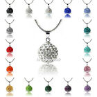 Nice Round 10mm Crystal Shamballa Bead Ball Pendants Silver Chain Girl Necklaces