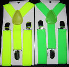 Boys Girls Baby Toddler Braces Fluorescent yellow green  adjustable  canvas