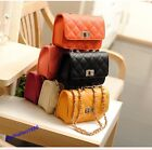 Korean Style Lady Quilted Leather Mini Shoulder Bag Cross-body Chain Handbag New