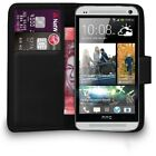 Premium Leather Flip Book Wallet Case Cover For HTC One M7+Free Screen Protector