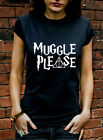 Muggle please tshirt hogwarts harry potter film funny mean girls tumblr tee K380