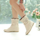 NEW Women's Spring Ankle Boots Sweety Hidden Wedge Heels Sweety Bootie Size