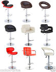 A Pair of Style Swivel PU Leather Breakfast Kitchen Bar Stools Pub Barstools