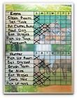 Chore Charts for Multiple Kids, 2 or 3, works as Dry Erase Board, multi themes