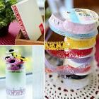 New Hot DIY Craft Hollow Lace Sticky Adhesive Colorful Tape Sticker Decorative