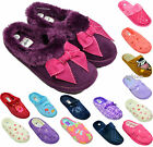 New Womens Ladies Mules Warm Faux Fur Winter Slippers Slip On Shoes Size UK 3-8