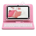 "iRULU 8GB 7"" Android6.0 Quad core HD Tablet PC Dual Cameras White w/Keyboard NEW"