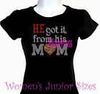 He Got It - BASKETBALL - Rhinestone Iron on T-Shirt - From His Mom Sports Top