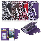 Leopard Wallet iPhone 5 5s case cover