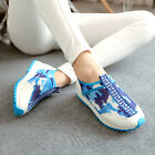 Fashion Womens Camo Sport Flat Athletic Shoes Pull On Low Heel Casual Sneakers