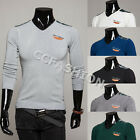 Chic Mens V-Neck Long Sleeve Stylish Cardigan Knitted Sweater Jumper Tops M-2XL