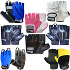 Cycling Gloves Fingerless Leather Cyling / Cycle Mitts Gloves MULTI