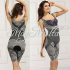Women Slimming Bamboo Charcoal Clothes Tummy Slim Body Shaper Fiber Jumpsuit Q