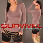 NEW SEXY SIZE 6 8 10 12 WOMENS JUMPER KNITTED SWEATER PARTY CASUAL V-NECK TOP