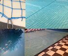 Black POOL safety netting cover knotted nets 4mm pond SAFETY trellis SOLD PER M