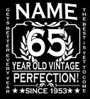 65th Birthday T-Shirt Ladies Cut Add Name Personalise Change Year Gift Idea Girl