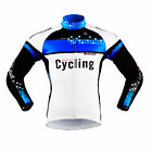 Sobike- SHOCK WAVE Blue Cycling Long Jersey long Sleeves