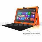 """Slim Case Stand Cover for Microsoft Surface RT Suface 2 10.6"""" w/ Keyboard Holder"""