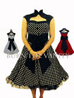 NEW VINTAGE ROCKABILLY RETRO 50'S 60'S PARTY PROM EVENING TEDDY POLKA DOT DRESS