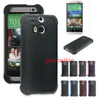 Heavy Duty Hybrid Silicone Hard Impact Case Cover For ALL NEW HTC ONE M8 2014