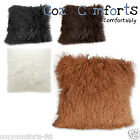 Mongolian Genuine Sheepskin Cushions Available in 4 Colours
