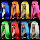 "Ladies 18"" Full Long Fancy Dress Wigs Straight Cosplay Costume Womens Wig Party"